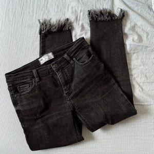 FREE PEOPLE 'GREAT HEIGHTS FRAYED SKINNY JEANS'